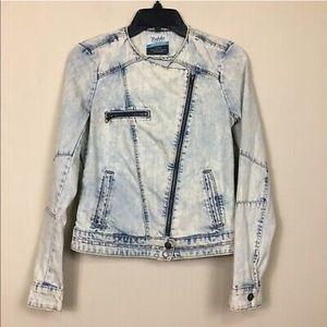 Zara Trafaluc Denim Moto Jacket